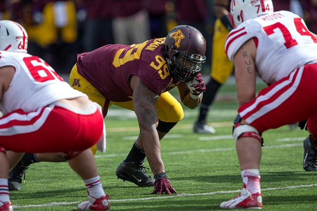 Ra'Shede Hageman. Minnesota Golden Gophers (October 26, 2013)