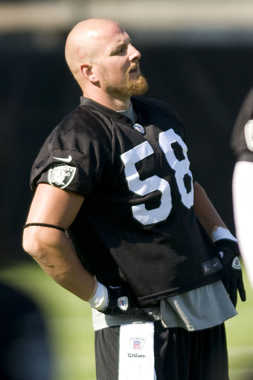Dave Tollefson, Oakland Raiders (July 30, 2012)