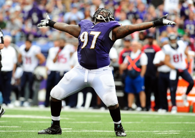 Arthur Jones, Baltimore Ravens (September 22, 2013)