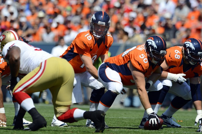 J.D. Walton, Denver Broncos (August 26, 2012)