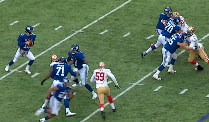 Charles Brown and John Jerry fail to pick up stunt and Eli is sacked again