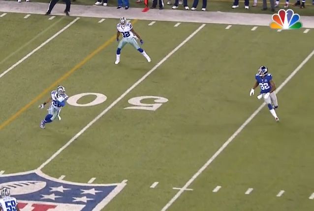 ...that leaves Rueben Randle wide open on the slant