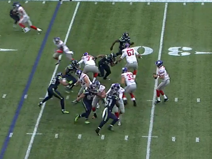 John Jerry whiffs in pass protection