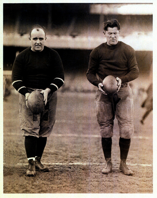Charles Brickley and Jim Thorpe, New York Brickley Giants (December 3, 1921)