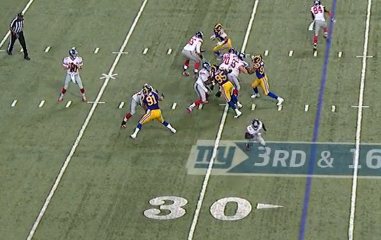 Picture-perfect pass protection on 3rd-and-16 play.