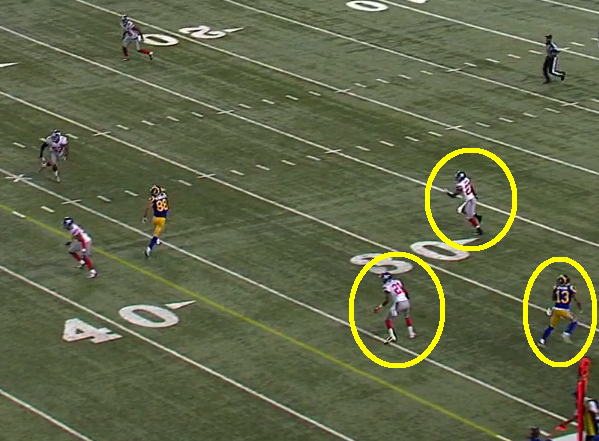 Who was supposed to cover the WR deep on this TD? Who knows? But this happens to often.