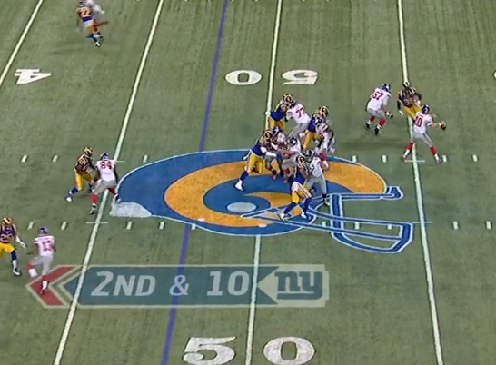 Another clean pocket for Manning on 19-yard completion to Randle.
