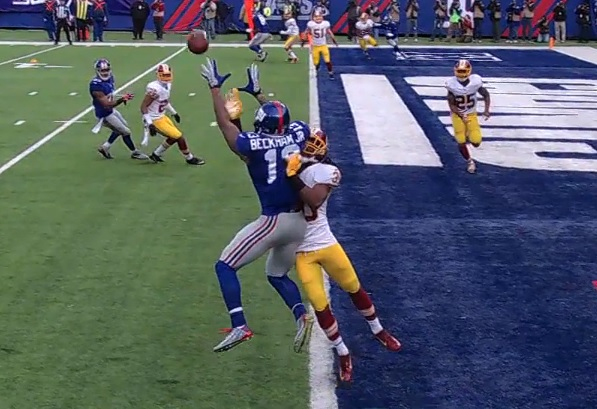 Odell Beckham comes up with TD despite tight coverage