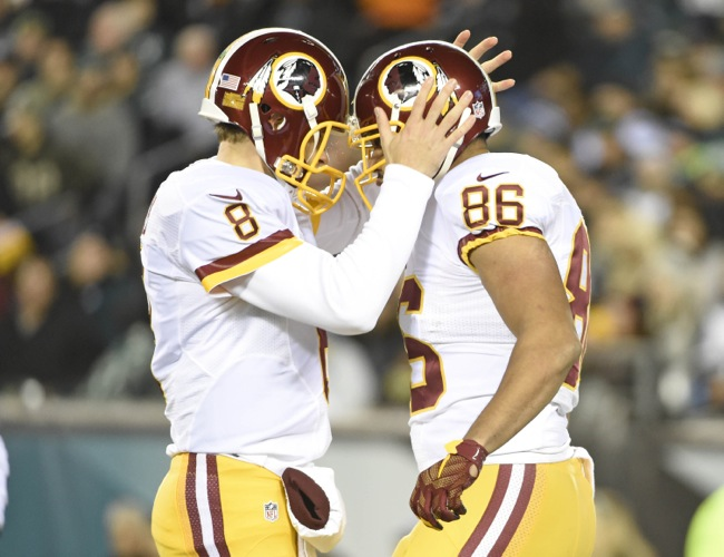 Kirk Cousins and Jordan Reed, Washington Redskins (December 26, 2015)