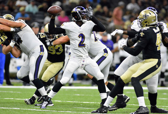Josh Johnson, Baltimore Ravens (September 1, 2016)