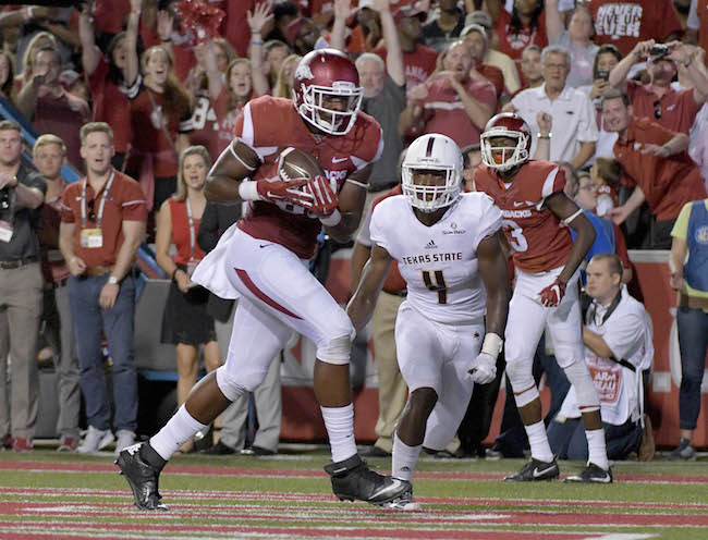 Jeremy Sprinkle, Arkansas Razorbacks (September 17, 2016)