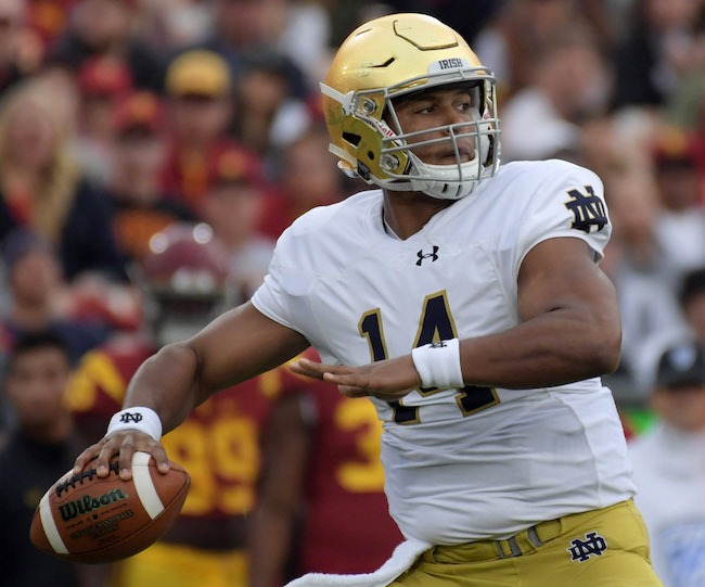 DeShone Kizer, Notre Dame Fighting Irish (November 26, 2016)