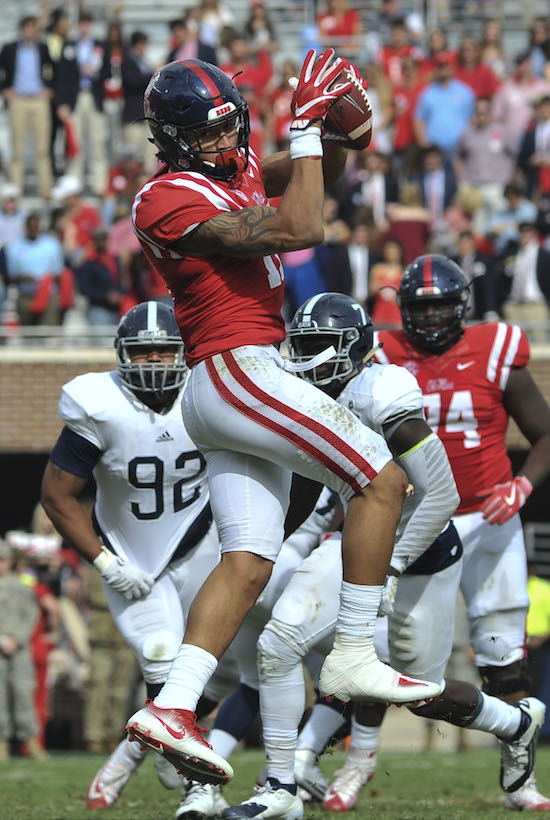 Evan Engram, Mississippi Rebels (November 5, 2016)