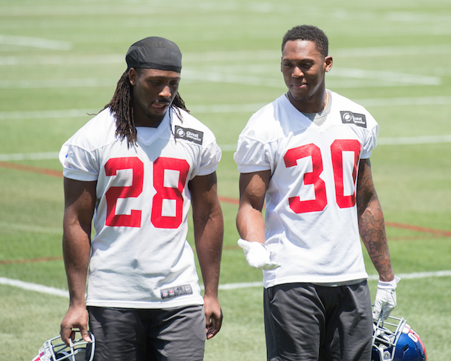 Paul Perkins and Wayne Gallman, New York Giants (June 13, 2017)