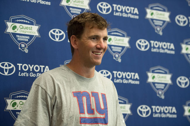 Eli Manning, New York Giants (July 28, 2017)