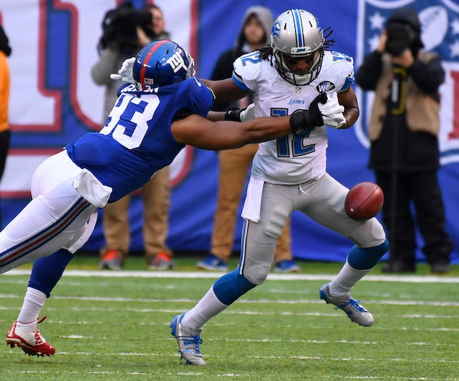B.J. Goodson, New York Giants (December 18, 2016)