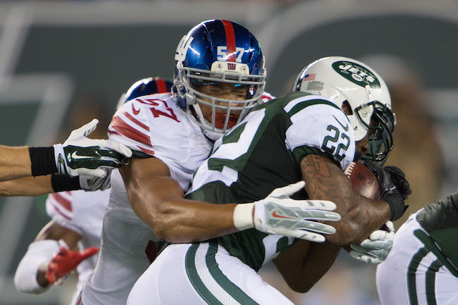 Keenan Robinson, New York Giants (August 27, 2016)