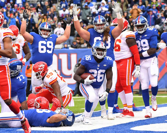 Orleans Darkwa, New York Giants (November 19, 2017)