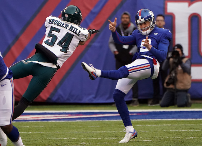Brad Wing, New York Giants (December 17, 2017)