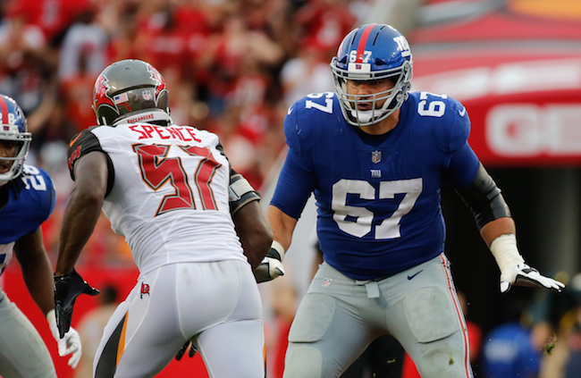 Justin Pugh, New York Giants (October 1, 2017)