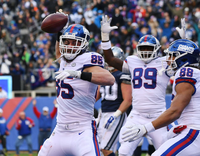 Rhett Ellison, New York Giants (December 10, 2017)