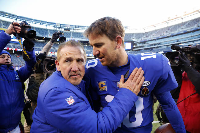 Steve Spagnuolo and Eli Manning, New York Giants (December 31, 2017)