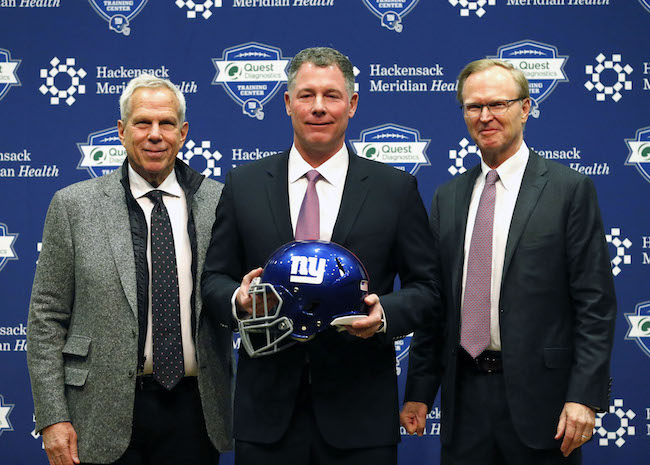 Steve Tisch, Pat Shurmur, and John Mara; New York Giants (January 26, 2018)