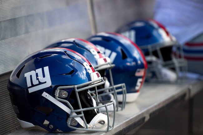 New York Giants Helmets (September 22, 2019)