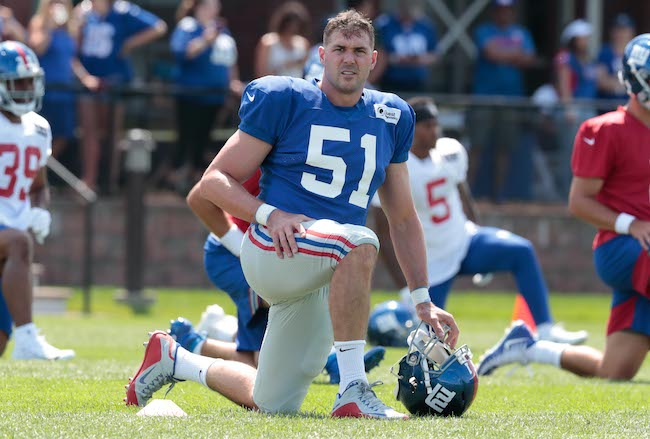 Zak DeOssie, New York Giants (July 25, 2019)