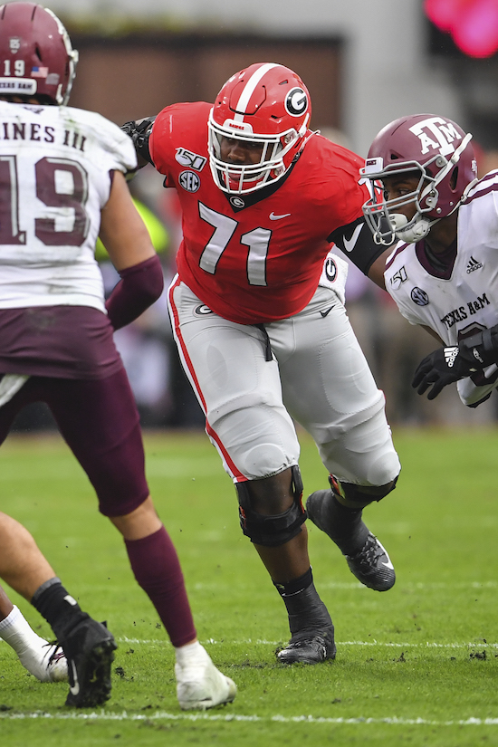 Andrew Thomas, Georgia Bulldogs (November 23, 2019)