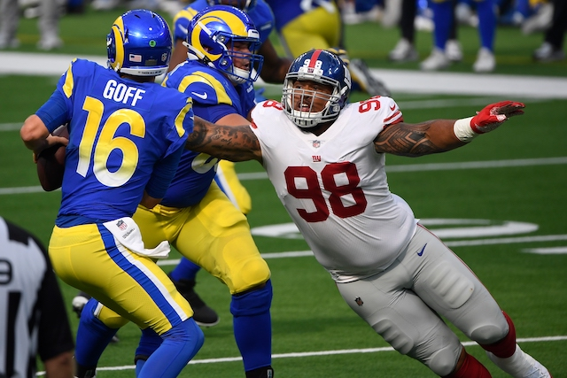 Austin Johnson, New York Giants (October 4, 2020)