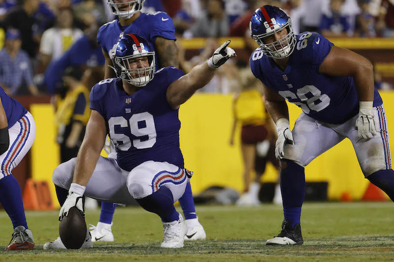Billy Price and Ben Bredeson, New York Giants (September 16, 2021)