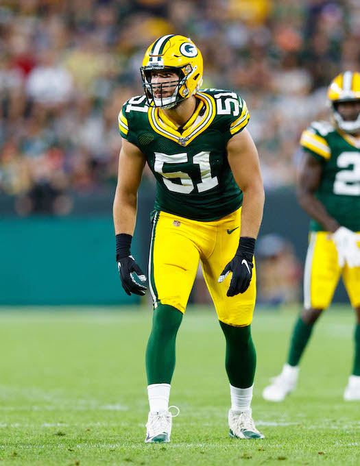Kyler Fackrell, Green Bay Packers (August 8, 2019)