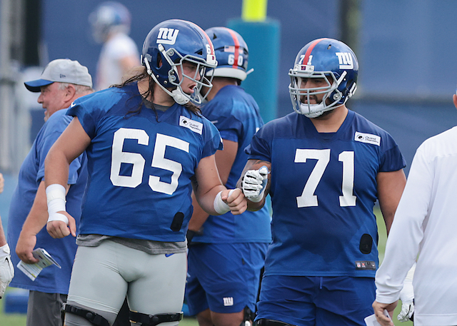 Nick Gates and Will Hernandez, New York Giants (July 29, 2021)