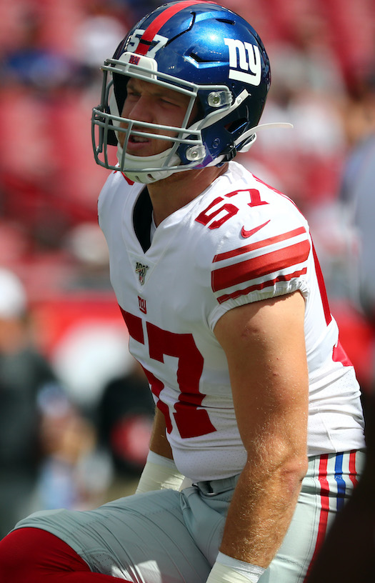 Ryan Connelly, New York Giants (September 22, 2019)