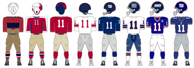Becoming Big Blue - A History of the New York Giants Uniforms