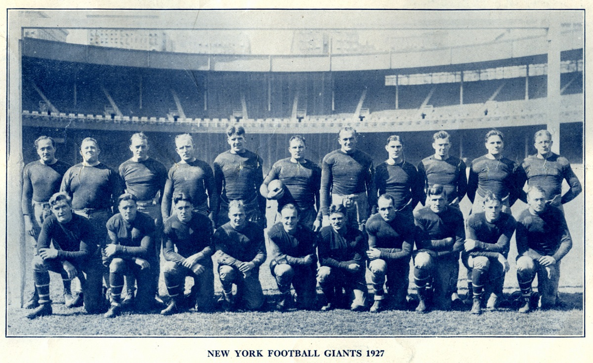 1927 New York Giants - Courtesy of Rev. Mike Moran