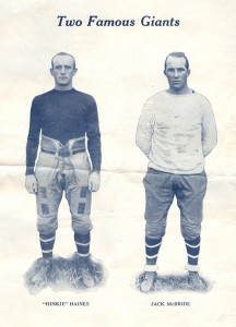 Hinkey Haines and Jack McBride, New York Giants (1927)