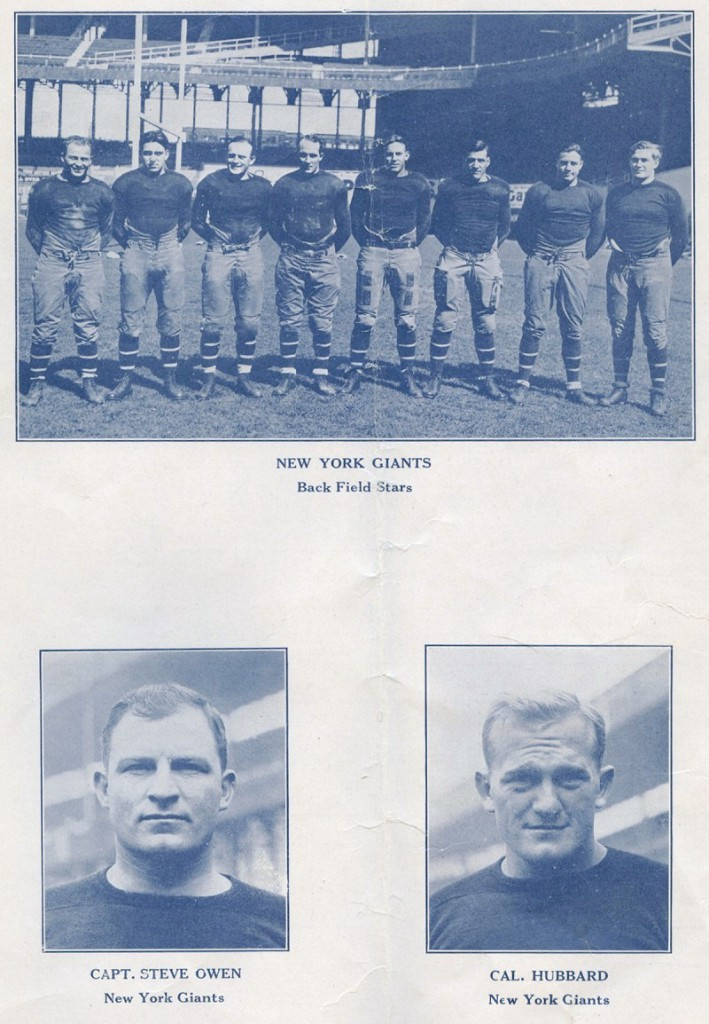 Steve Owen and Cal Hubbard, New York Giants (1927)