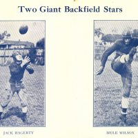 Jack Hagerty and Mule Wilson, New York Giants (1929)