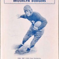 "Chris ""Red"" Cagle, New York Giants vs Brooklyn Dodgers Game Program (October 16, 1932)"