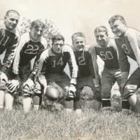 Tony Sarausky (11), Ed Danowski (22), John Dell Isola (2), Ken Strong (50), Len Grant (3), New York Giants (1935) - Photo Courtesy of Rev. Mike Moran