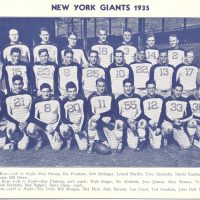 1935 New York Giants - Courtesy of Rev. Mike Moran
