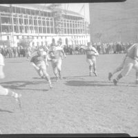 Dale Burnett (18), Ken Strong (50), Ed Danowski (22), New York Giants (1935)