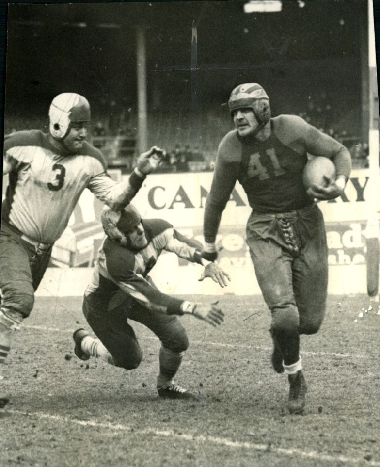 Len Grant (3) and Tod Goodwin (14), New York Giants (November 22, 1936)