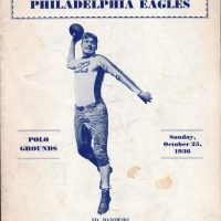 Philadelphia Eagles at New York Giants Game Program (October 25, 1936)