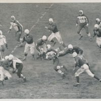 Len Grant (3), Mel Hein (7), Tuffy Leemans (4), New York Giants (October 25, 1936)
