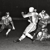 Beattie Feathers (48) and Bronko Nagurski (3), Chicago Bears at New York Giants (November 8, 1936)
