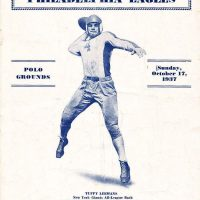 Philadelphia Eagles at New York Giants Game Program (October 17, 1937)