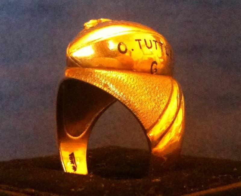 New York Giants 1938 NFL Championship Ring (Orville Tuttle)